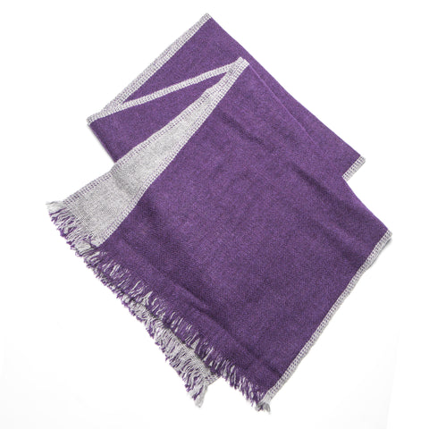 Soft Cashmere Purple Charcoal Scarf