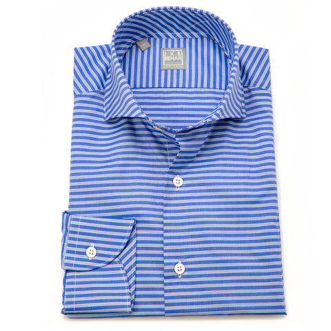 Chris Blue White Horizontal Stripe Shirt