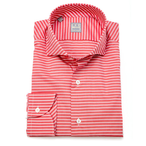 Chris Red White Horizontal Stripe Shirt