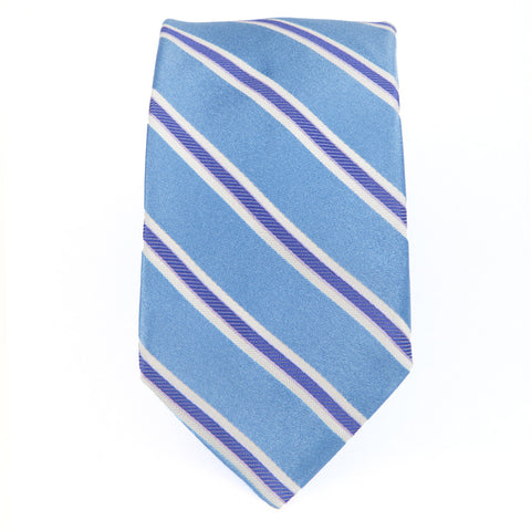 Blue Purple Royal Oak Stripe Tie