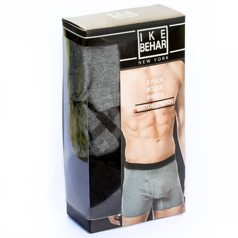 Boxer Briefs Assorted 3 Pack - Blue/Black