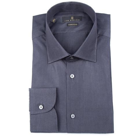 Milano Charcoal Broadcloth Dress Shirt