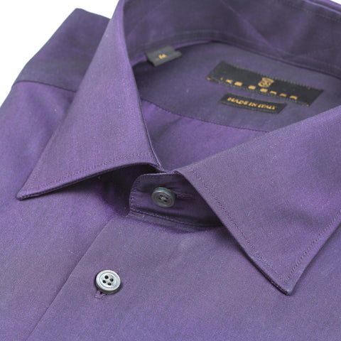 Milano Purple Broadcloth Dress Shirt
