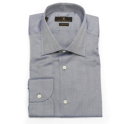 Milano Gray Herringbone Twill Dress Shirt