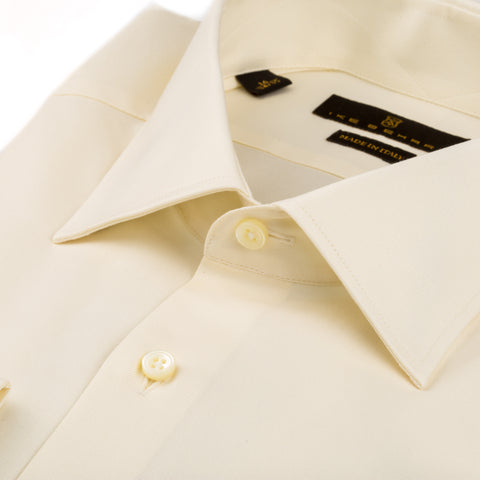 Milano Ecru Broadcloth Twill Dress Shirt