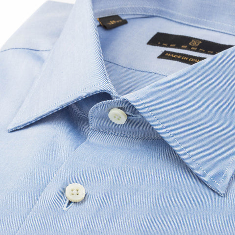 Milano Light Blue Twill Dress Shirt