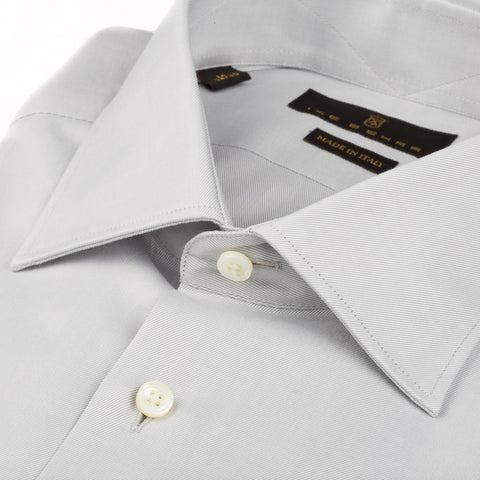 Milano Gray Twill Dress Shirt