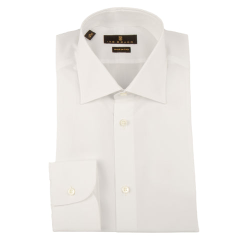 Milano White Broadcloth Dress Shirt