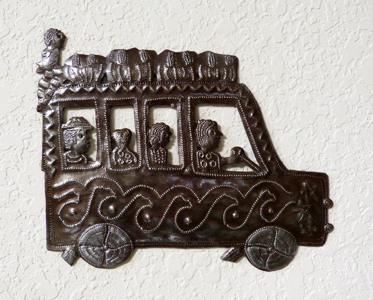 Wall Art - Metal - Haitian Bus