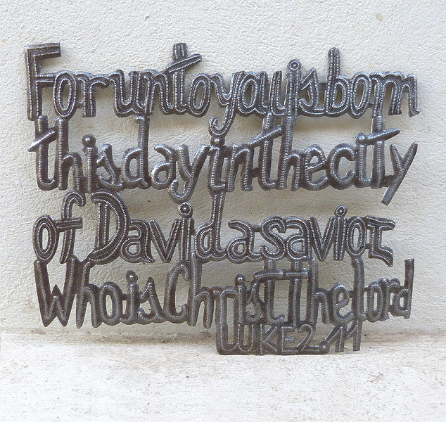 Wall Art - Metal - For unto you is born - Luke 2:11