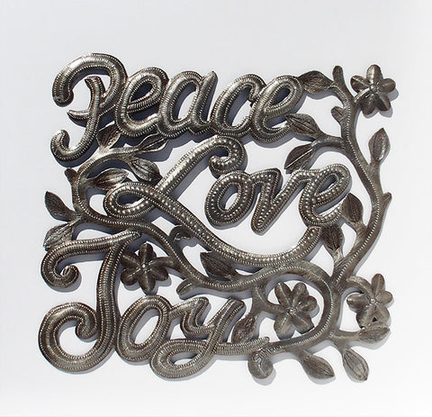 Wall Art - Metal - Peace Love Joy (Square)
