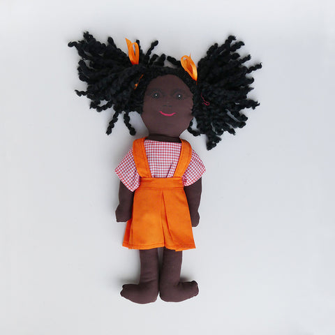 Hand Sewn Doll - Nadege  - A School Girl from Cap Haitian