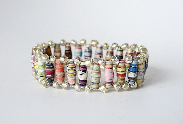 Bracelet - Paper - Train Track - Various Colors
