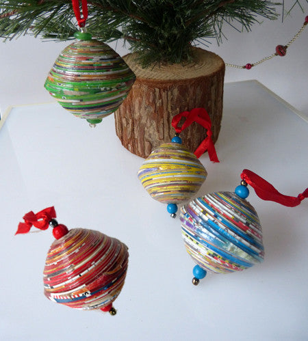 Ornaments - Paper - Solid Large Beads