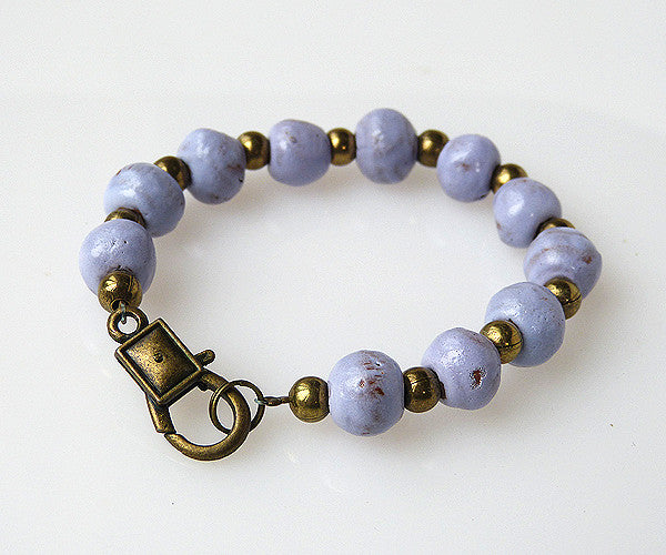 Bracelet - Ceramic with Rustic Clasp - Various Colors