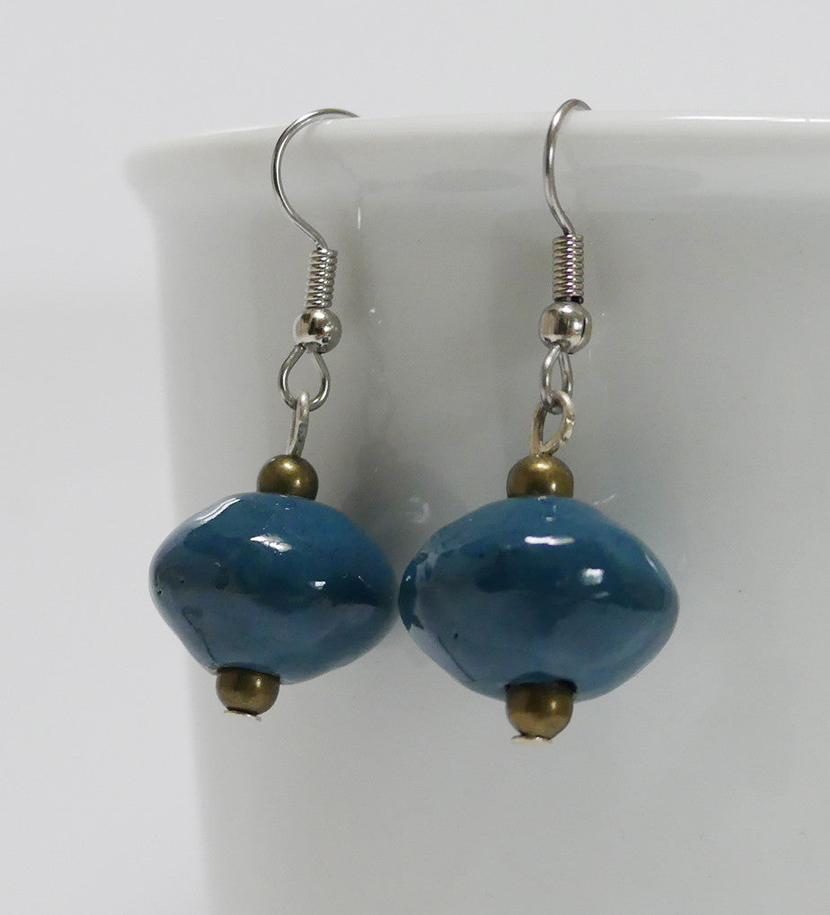 Earrings - Ceramic - SaucerShape