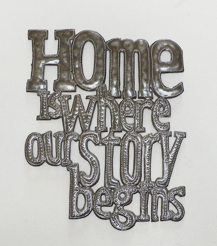 Wall Art - Metal - Home is where Our Story Begins