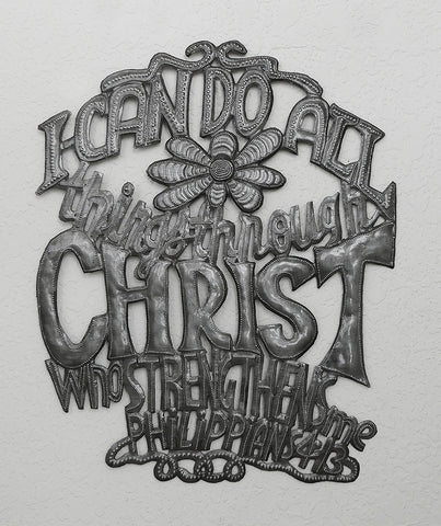 Wall Art - Metal - I Can do All Things through Christ - Phil 4:13