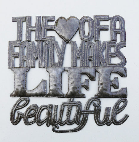 Wall Art - Metal - The Heart of a Family