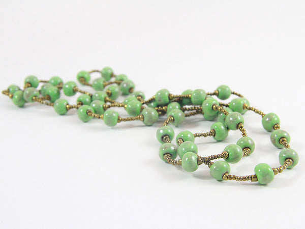 Necklace - Ceramic - LONG - Various Colors
