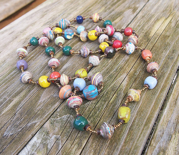 Necklace - Signature Clay  -  Medium length - Multicolor