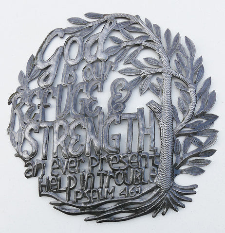 Wall Art - Metal - God Our Refuge & Strength - Psalm 46:1