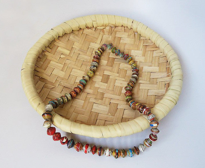 Necklace - Paper - Simply Cereal Box Beads