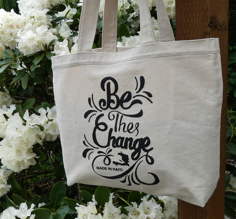 Tote Bag - Screen Printed - Be the Change