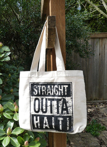 Tote Bag - Screen Printed - StraightOuttaHaiti