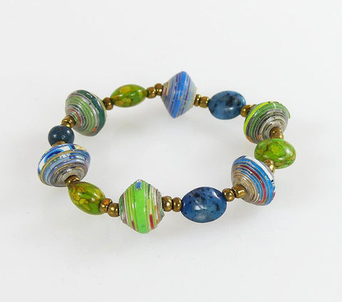 Bracelet  - Signature - Blue-Green with Jasper