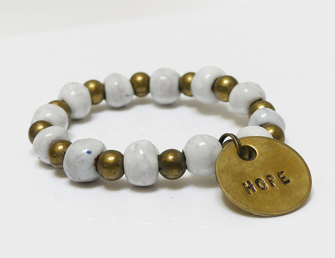 Bracelet - Ceramic with Hope Charm