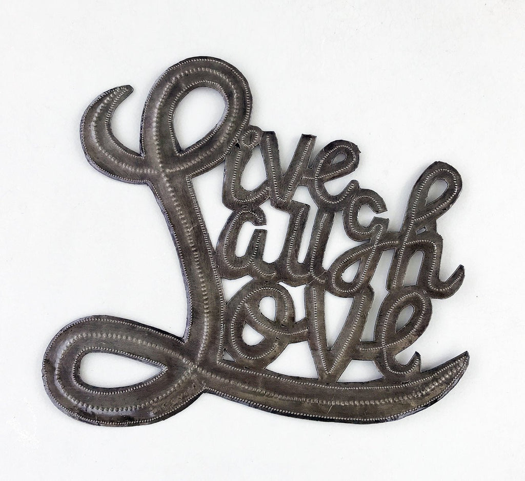 Wall Art  - Metal  - Live Laugh Love