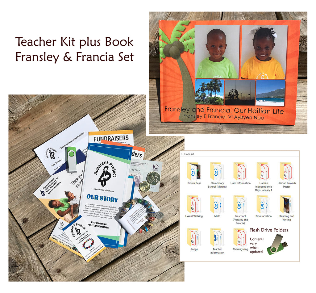 Teacher Kit plus Book Set - Fransley and Francia, Our Haitian Life