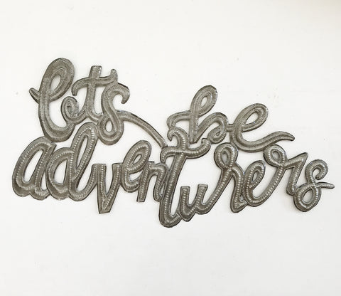 .Wall Art - Metal  - Let's be Adventurers