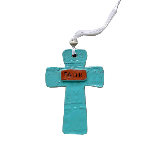 .Wall Art - Ceramic - FAITH Cross