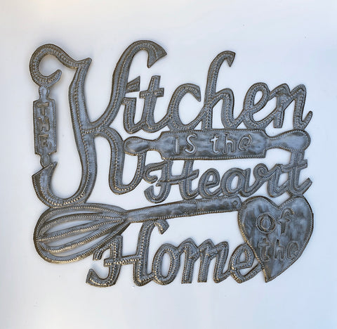 .Wall Art - Metal  - The Kitchen is the Heart of the Home