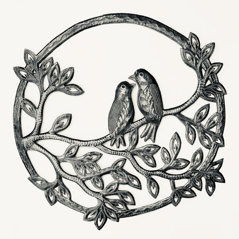 Wall Art - Metal - Love Birds in a Circle