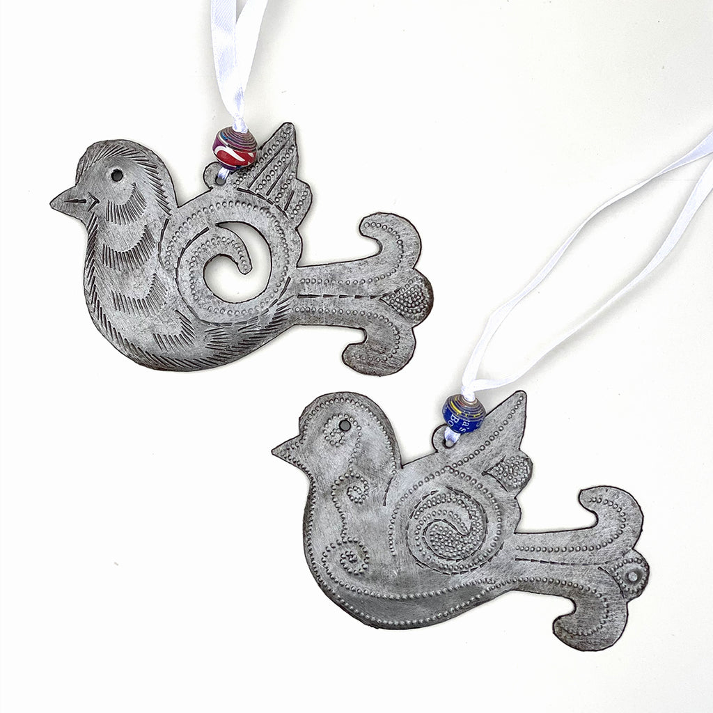 Ornament - Metal - Birds in Flight Set