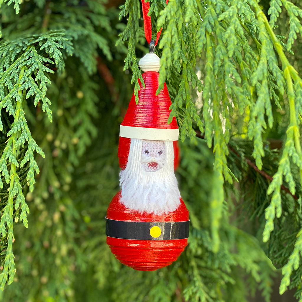 Ornament - Paper - Cereal Box Santa Claus