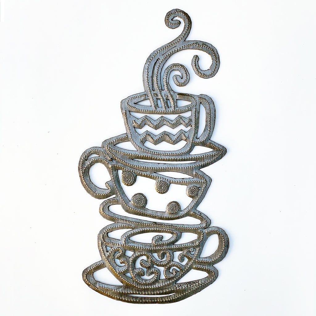 *Wall Art - Metal - Coffee-Tea Cups