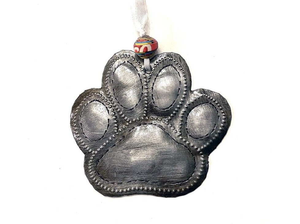 Ornament - Metal - Dog Paw