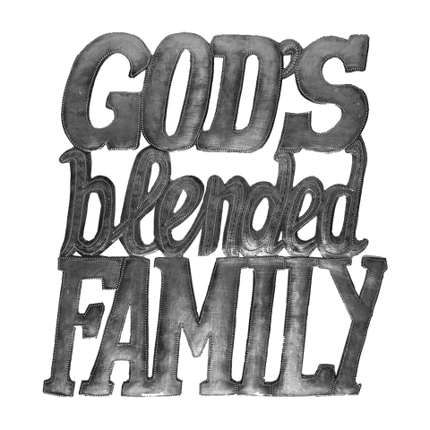 Wall Art - Metal  - God's Blended Family