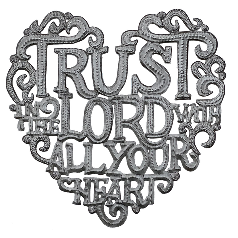 Wall Art - Metal - Trust in the Lord With All Your Heart