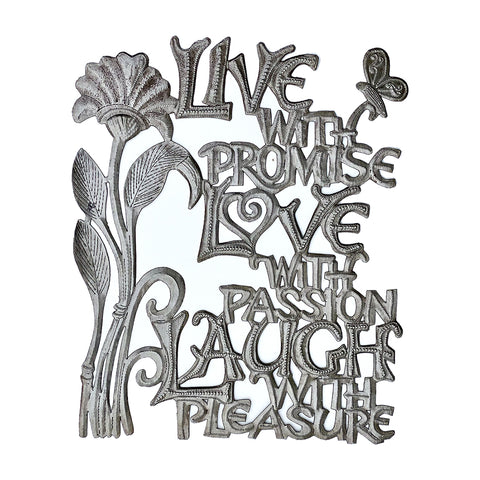 Wall Art - Metal - Live with Promise, Love, Laugh