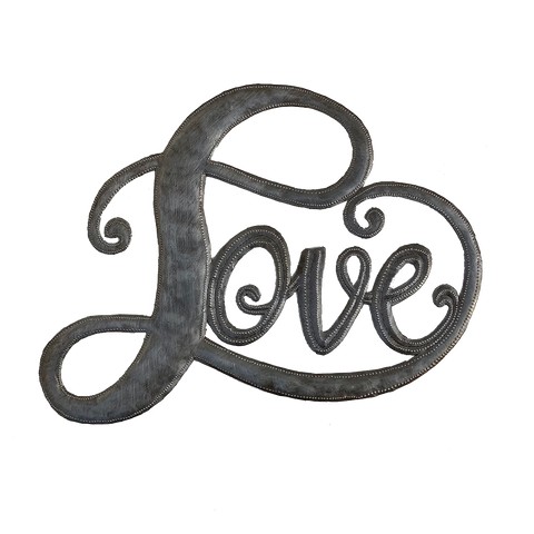 .Wall Art - Metal - Love Script