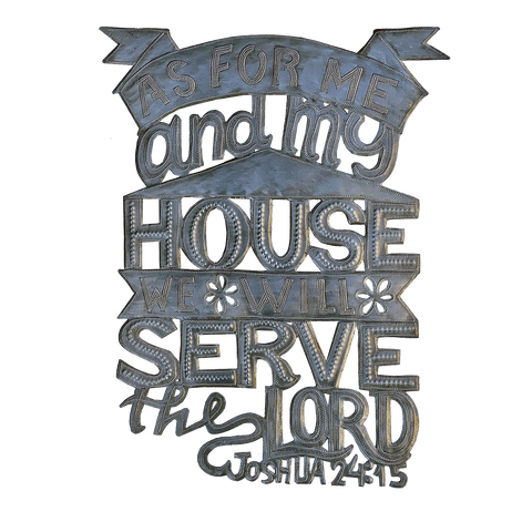 Wall Art - Metal - As for Me & My House - Joshua 24:15