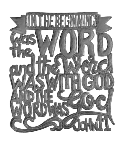 Wall Art - Metal  - In the Beginning was the Word - John 1.1