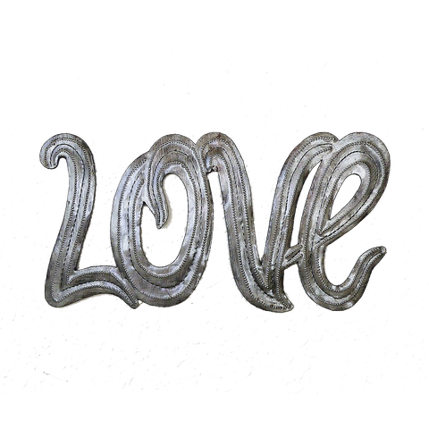 Wall Art - Metal - Love - Simple Script