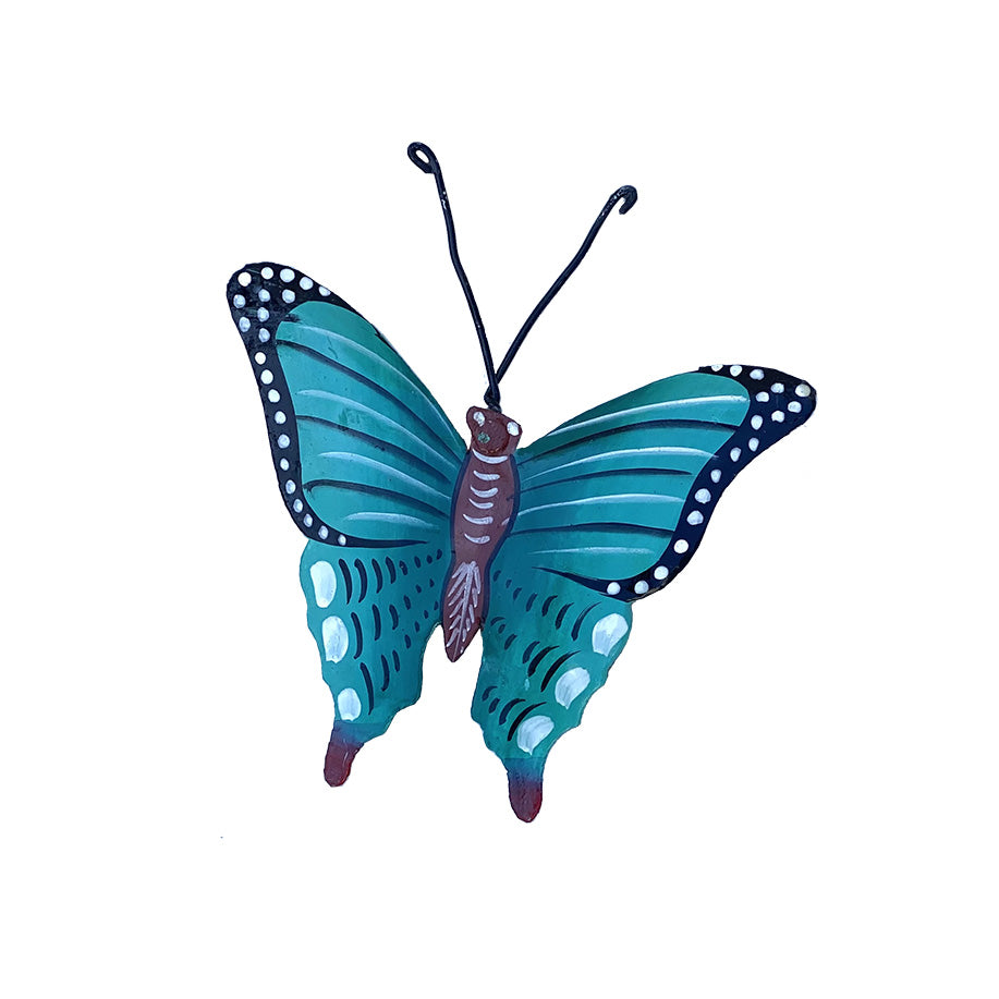 Ornament - Metal - Butterfly Teal Design