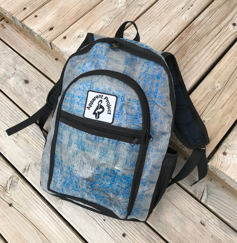 Apparent Project Backpack - Recycled Water Bag Design